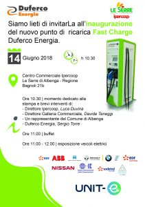 14 giugnoInaugurazione punto ricarica Fast Charge Duferco Energia